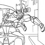 Batman tirando una patada