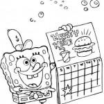 Bob Esponja y su calendario
