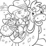 Dora con su caballo