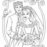 Dibujo de princesa en casamiento