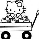Hello Kitty en un carro de tomates