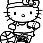 Hello Kitty jugando baloncesto