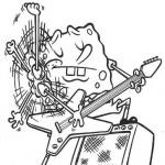 Bob Esponja tocando la guitarra