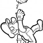 Mario Bros tirando una bola de fuego