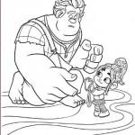 Ralph El Demoledor ayudando a una niña