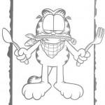 Garfield listo para comer