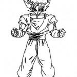 Goku preparado para pelear