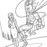 Batman salvando a una señorita