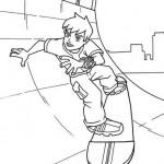 Ben 10 en patineta Skateboard
