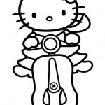 Hello Kitty en moto