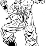 Dibujo para colorear de Goku