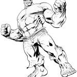 Dibujo para colorear de Hulk