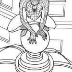 Dibujo para colorear de spiderman