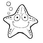 Dibujo para colorear de una estrella marina