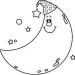 Dibujo para colorear de la luna