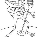 Dibujo para colorear de una rana cantante