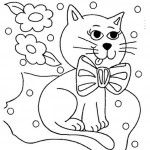 Dibujo para colorear de un gato