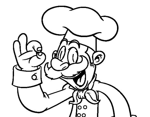 Dibujo para colorear de un cocinero dibujos de sin categor a for Herramientas de un cocinero