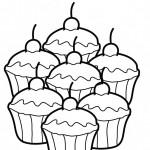 Dibujo para colorear de unos pasteles