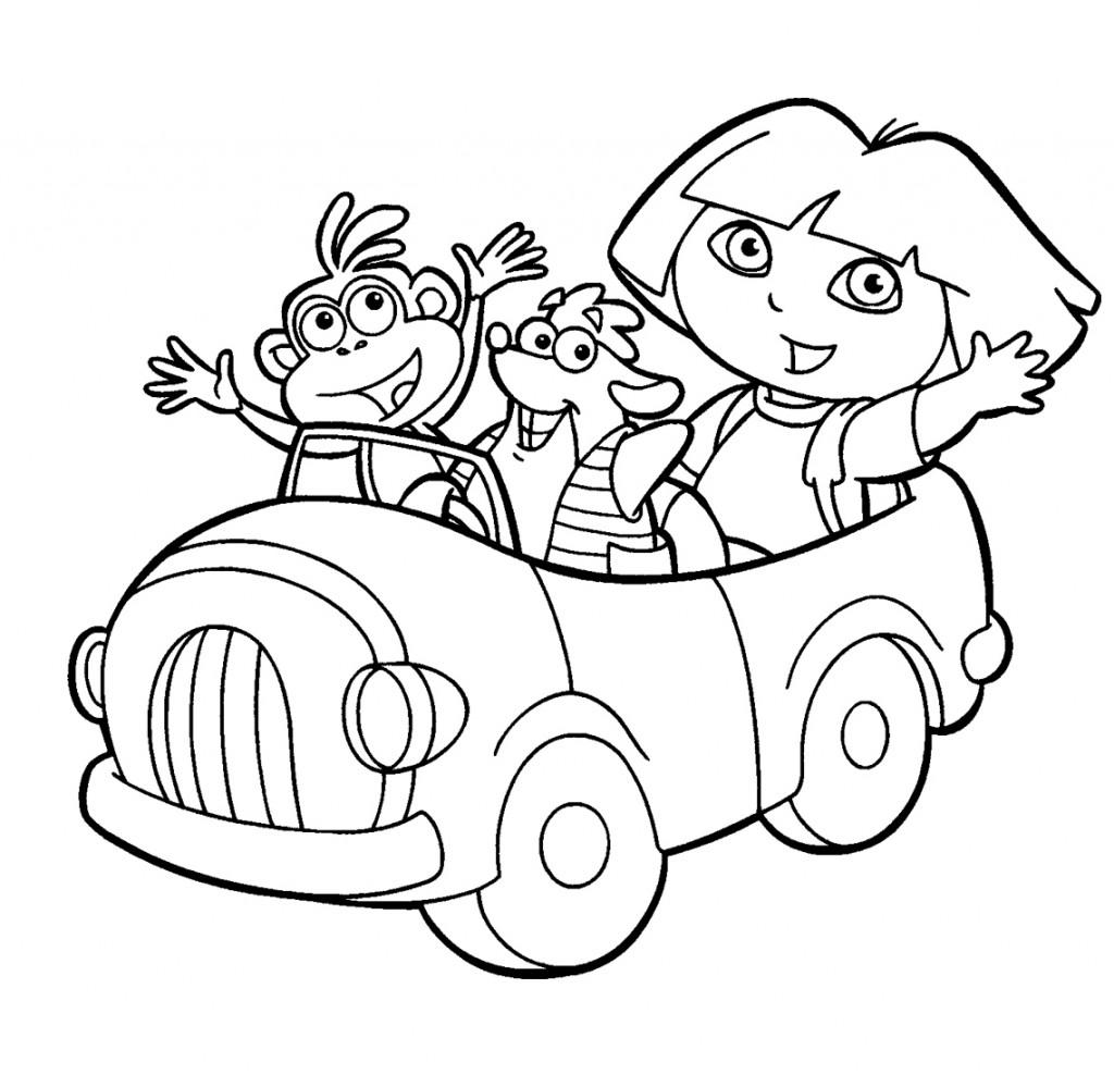 Dibujos para Colorear de Dora la Exploradora y sus amigos