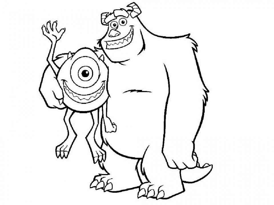 Monster Inc y los dos grandes amigos de Monstruópolis
