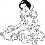 Dibujo para colorear Blancanieves