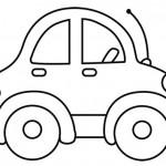 Dibujo para colorear coche pequeño