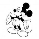 Dibujo para colorear mickey mouse