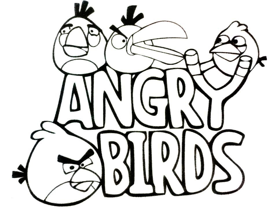 Dibujo para Colorear Angry Birds