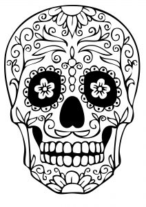 Dibujo Calaveras Mexicanas 1494417382