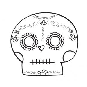 Dibujo Calaveras Mexicanas 1494417427