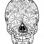 DIBUJOS de Calaveras Mexicanas para COLOREAR a lapiz a color