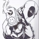 Dibujo Deadpool 1494435198