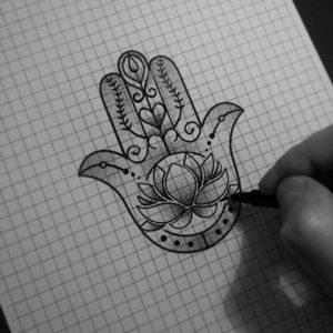 Dibujo Mano de Fátima 1494416383