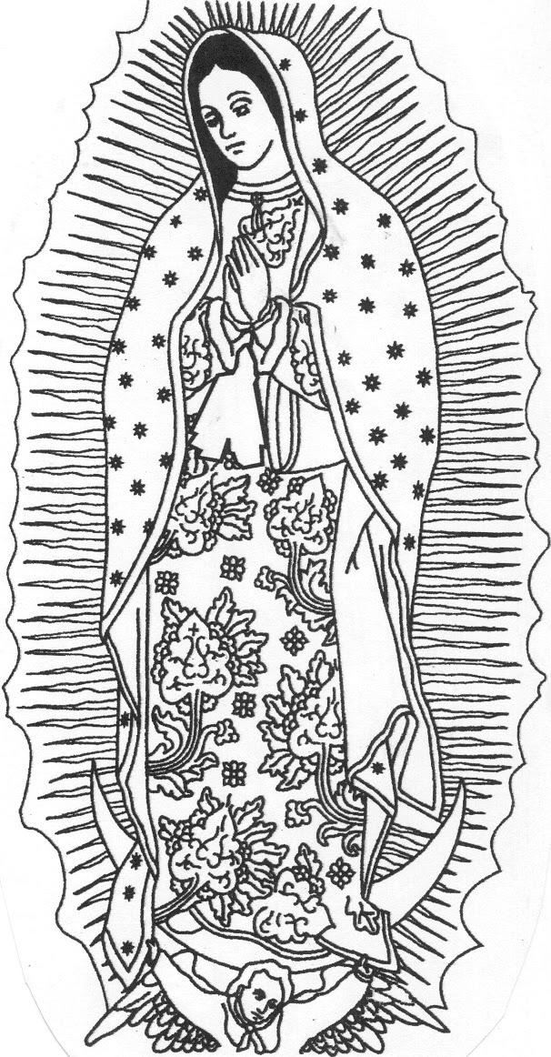 Dibujo Virgen de Guadalupe 1494433865