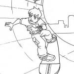 Ben 10 en su Skate