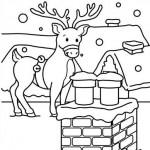 El reno de santa arriba el techo