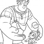 Ralph jugando con una niña