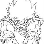 Goku en pleno vuelo