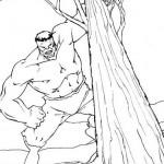 Hulk tirando un arbol