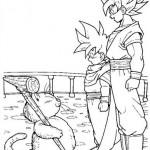 Goku y Gohan con el Maestro Karin