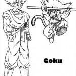 Goku de pequeño y Goku de grande