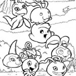 Digimones juntos y contentos