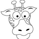 Dibujo para colorear de una jirafa