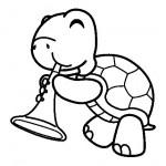Dibujo para colorear de una tortuga