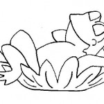 Dibujo para colorear de una rana
