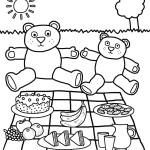 Dibujo para colorear de unos osos