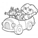 Dibujos para Colorear de Dora la Exploradora