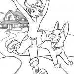 Dibujo para Colorear Bolt y Su Compañera