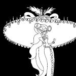 Dibujo Calaveras Mexicanas 1494417525